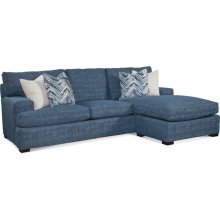 Cambria Estate Sofa with Reversible Ottoman