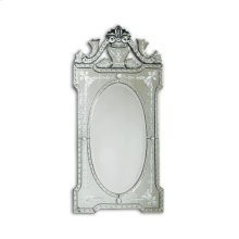 ETCHED SHAPED VENETIAN GLASS MIRROR