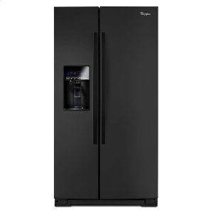26 cu. ft. Side-by-Side Refrigerator with Tap Touch Controls - BLACK