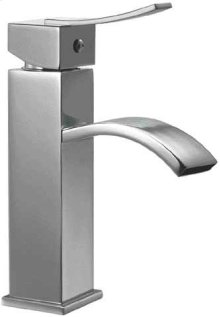 AB1258 Brushed Nickel Square Body Curved Spout Single Lever Bathroom Faucet