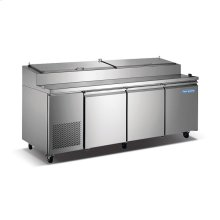 3 Door Stainless Steel Pizza Prep Table