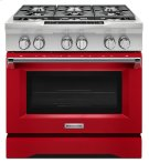 36'' 6-Burner Dual Fuel Freestanding Range, Commercial-Style - Signature Red Product Image