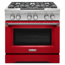 36'' 6-Burner Dual Fuel Freestanding Range, Commercial-Style - Signature Red