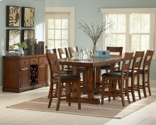 9 PIECE PUB SET (TABLE WITH 8 BARSTOOLS)