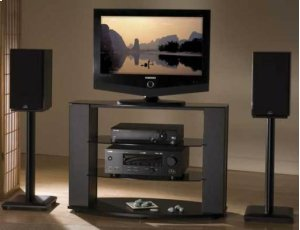 "Black Natural Series 24"" tall for medium bookshelf speakers"
