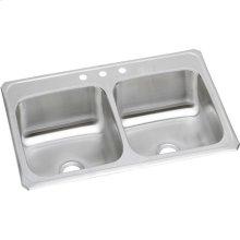 "Elkay Celebrity Stainless Steel 33"" x 21-1/4"" x 6-7/8"", Equal Double Bowl Drop-in Sink"