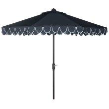 Elegant Valance 9ft Umbrella - Navy / White