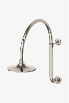 """Dash Wall Mounted Gooseneck 8"""" Shower Head, Arm and Flange STYLE: DSSH20"""