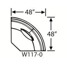 Sectional Component-Armless Wedge