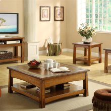Craftsman Home - Square Lift Top Coffee Table - Americana Oak Finish