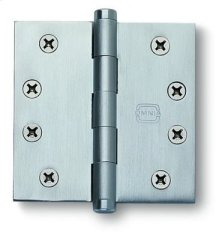 Plain Bearing, Full Mortise Hinge - Solid Extruded Brass in MB (MaxBrass® PVD Plated)