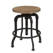 Flatbush Metal and Wood Adjustable Height Stool