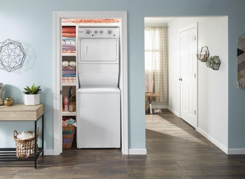 a33fb39fe61 3.5 cu.ft Electric Stacked Laundry Center 9 Wash cycles and AutoDry