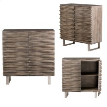 Bengal Manor Mango Wood Wave 2 Door Grey Cabinet