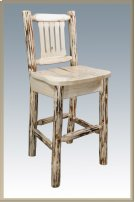 Montana Log Barstool with Back Product Image