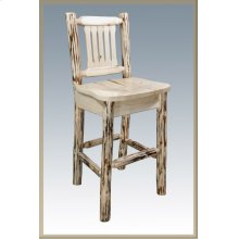 Montana Log Barstool with Back