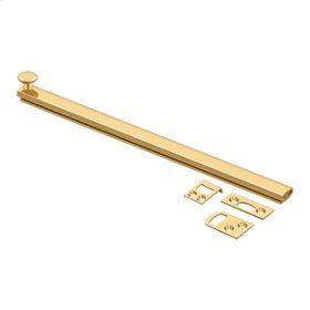 """12"""" Surface Bolt, Concealed Screw, HD - PVD Polished Brass"""