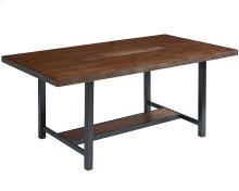 Milk Crate 6 Ft. Framework Dining Table with Planter