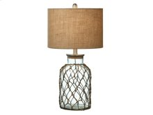 Large Jar with Rope Netting Table Lamp. 100W Max. 3 Way Switch.