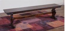 Santa Fe Long Bench W/wooden Seat