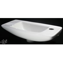 AB103 Small White Wall Mounted Porcelain Bathroom Sink Basin