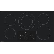"36"" Width Induction Cooktop, European Black Mirror Finish Made With Premium Schott ®Glass"