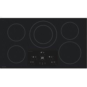 "Sharp36"" Width Induction Cooktop, European Black Mirror Finish Made With Premium Schott ®Glass"
