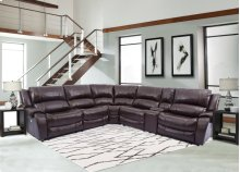 Power Reclining Sectional (2 Recliners) & Console with USB