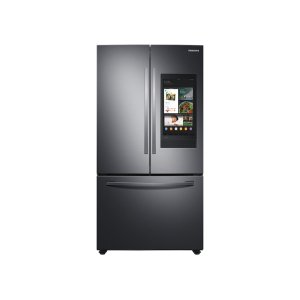 SAMSUNG28 cu. ft. 3-Door French Door Refrigerator with Family Hub™ in Black Stainless Steel