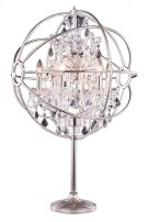"1130 Geneva Collection Table Lamp D:22"" H:34"" Lt:6 Polished nickel Finish (Royal Cut Crystals) Product Image"
