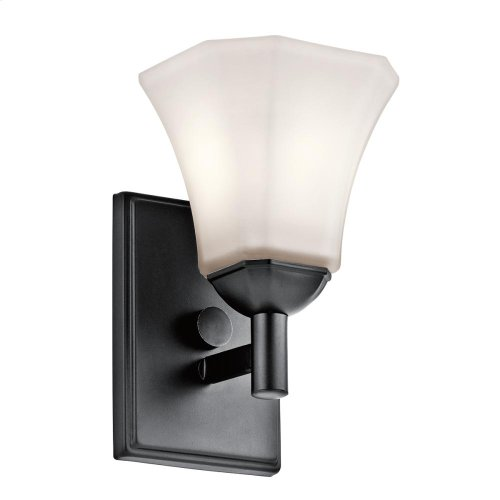 Serina Collection Serina 1 Light Wall Sconce in Black