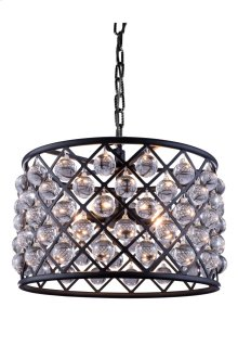 """1204 Madison Collection Chandelier D:20"""" H:13"""" Lt:6 Mocha Brown Finish (Royal Cut Crystals)"""