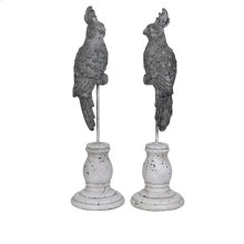 Tropical Bird Finials,Set of 2