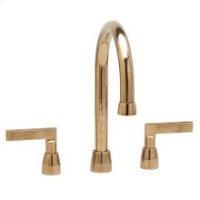 "Lav. Deck Mount Faucet (12 7/8"") White Bronze Brushed"