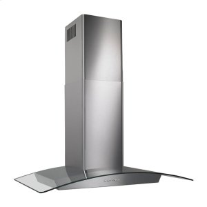 "Broan35-7/16"" Glass Canopy 500 CFM Chimney Range Hood"