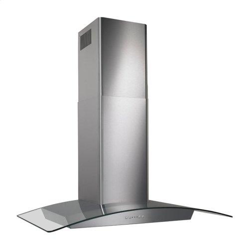 "35-7/16"" Glass Canopy 500 CFM Chimney Range Hood"