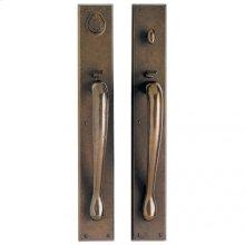 """Rectangular Entry Set - 3 1/2"""" x 24"""" White Bronze Brushed"""