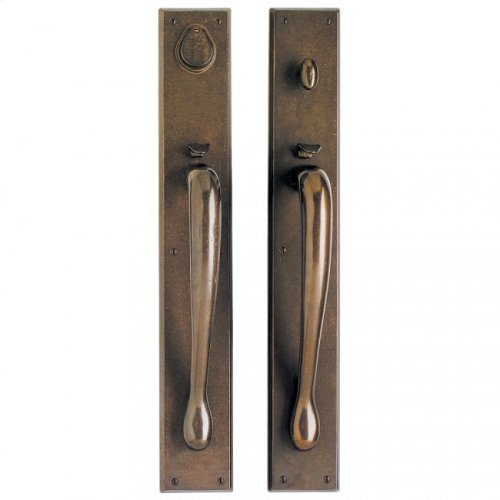 "Rectangular Entry Set - 3 1/2"" x 24"" Bronze Dark Lustre"