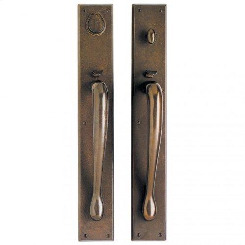 "Rectangular Entry Set - 3 1/2"" x 24"" Silicon Bronze Rust"
