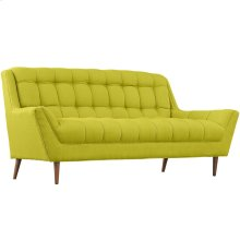 Response Upholstered Fabric Loveseat in Wheatgrass