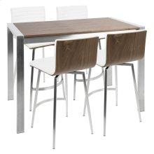 Mason Counter Set - Stainless Steel, Walnut Wood, White Pu