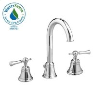 High Spout Widespread Lavatory Set - Lever Handle - Polished Chrome