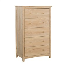 BD-7005 Lancaster 5-Drawer Chest. Solid wood panel sides & full extension drawer glides