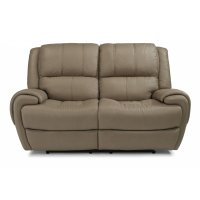 Nance Leather Power Reclining Loveseat with Power Headrests Product Image
