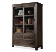 Promenade Sliding Door Bookcase Warm Cocoa finish Product Image
