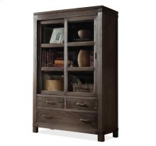 Promenade Sliding Door Bookcase Warm Cocoa finish