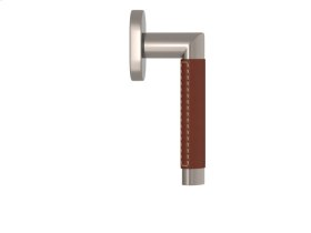 Oval Angle Stitch In Combination Leather In Chestnut And Satin Nickel