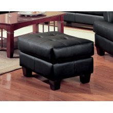Samuel Transitional Black Ottoman