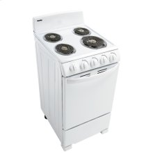 """Danby 20"""" Free Standing Electric Coil Range"""