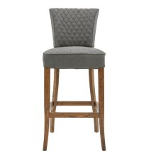 Quilted Barstool - Grey